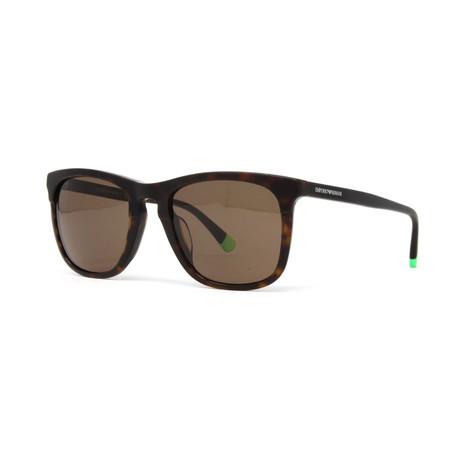 Emporio Armani // Men's EA4105F Sunglasses // Matte Havana + Brown