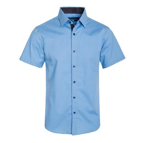 Geometric Pattern Cotton Short Sleeve Shirt // French (S)