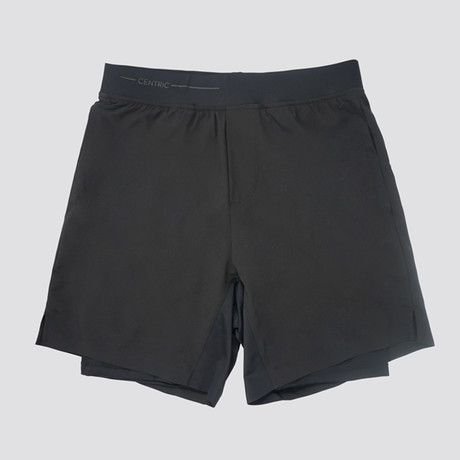 "Hi-Flex™ Training Shorts 5"" Lined // Black (Extra Small)"