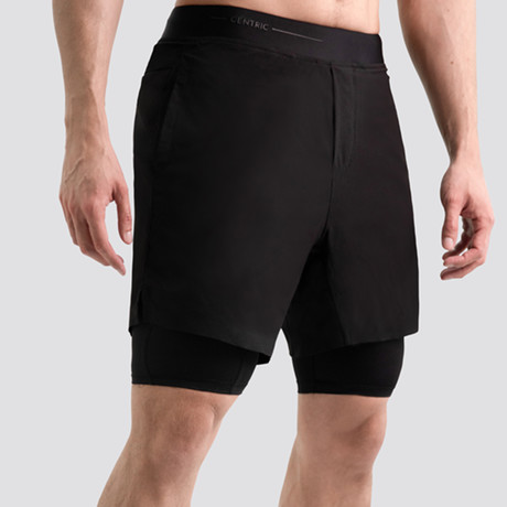 "Hi-Flex™ Training Shorts 7"" Lined // Black (Extra Small)"
