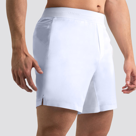 "Hi-Flex™ Training Shorts 7"" Unlined // White (Extra Small)"