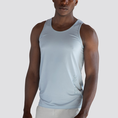 SilkTek™ Training Tank Top // Heather Light Blue (Small)