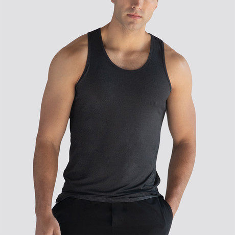 SilkTek™ Training Tank Top // Heather Black (Extra Small)