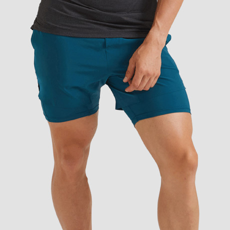"Hi-Flex™ Training Shorts 5"" Lined // Teal Green (Extra Small)"