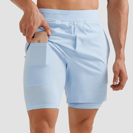 "Hi-Flex™ Training Shorts 7"" Lined // Pastel Blue (Extra Small)"