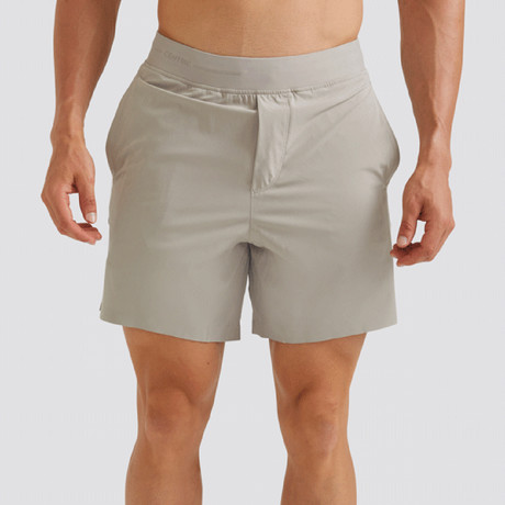"Hi-Flex™ Training Shorts 7"" Unlined // Pale Khaki (Extra Small)"