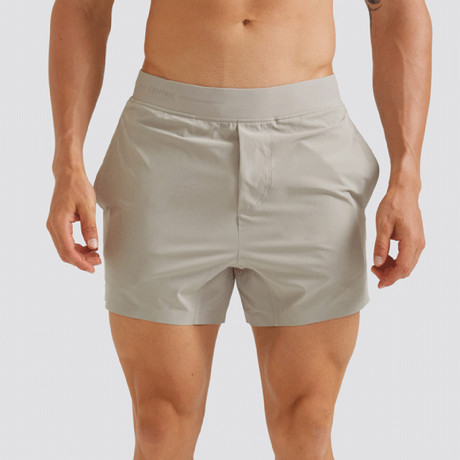 "Hi-Flex™ Training Shorts 5"" Unlined // Pale Khaki (Extra Small)"