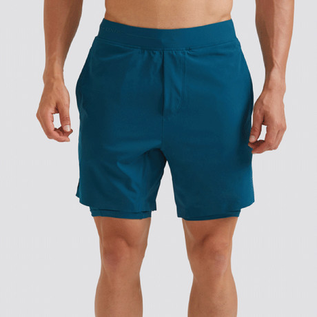 "Hi-Flex™ Training Shorts 7"" Lined // Teal Green (Extra Small)"