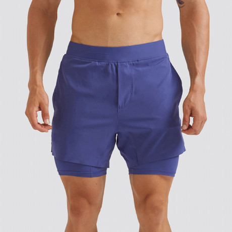 "Hi-Flex™ Training Shorts 5"" Lined // Admiral Blue (Extra Small)"