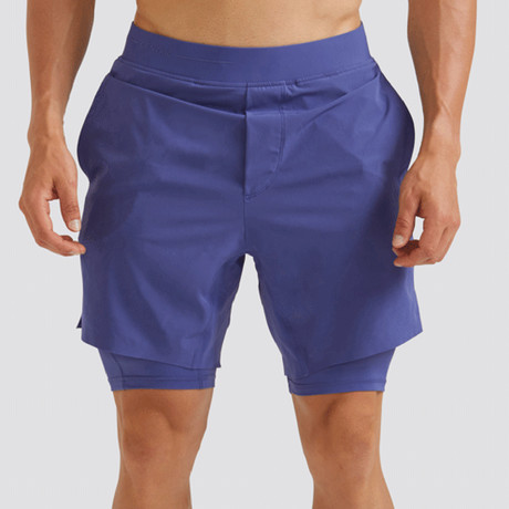 "Hi-Flex™ Training Shorts 7"" Lined // Admiral Blue (Extra Small)"
