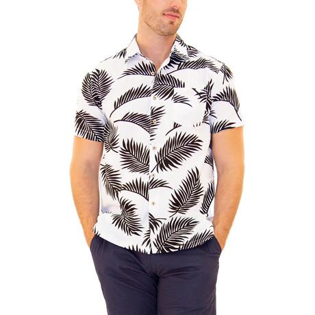 Mahalo Hawaiian Shirt // White (S)