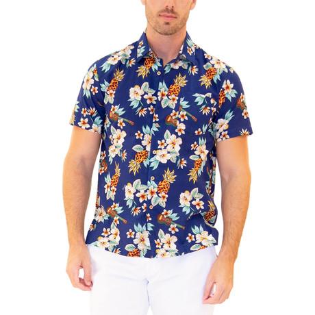 Ohana Hawaiian Shirt // Navy (S)