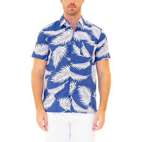 Makai Hawaiian Shirt // Navy (S)