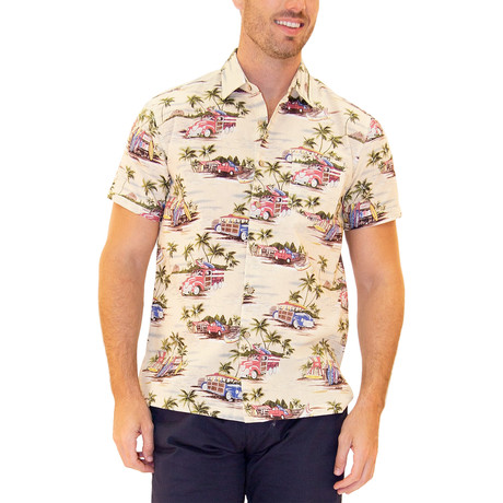 Wiki Hawaiian Shirt // Beige (S)