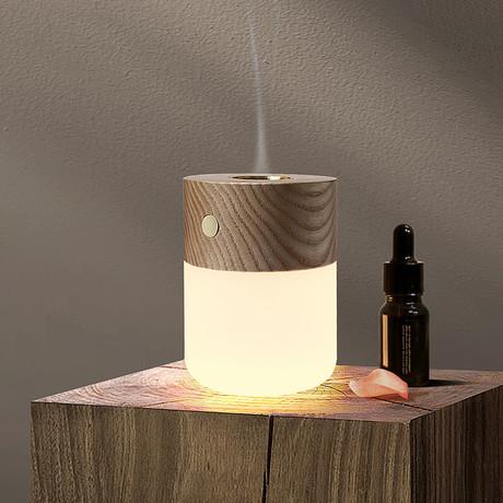 Smart Diffuser Lamp (Walnut)