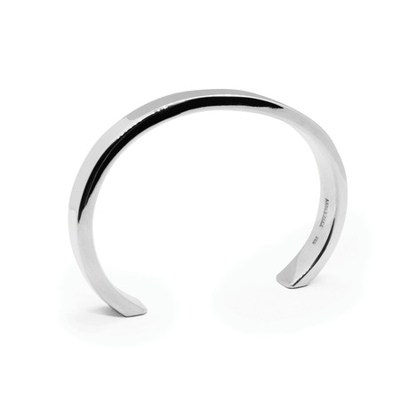 Classic Wide Bangle // 8mm // Sterling Silver (Small)