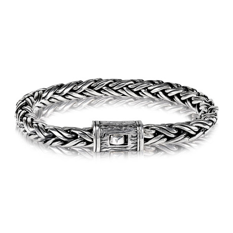 Contemporary Chain Bracelet // 7mm // Silver