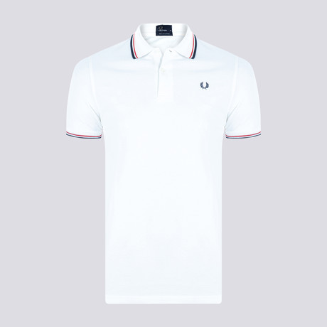 Tipped Polo Shirt // White + Red (S)