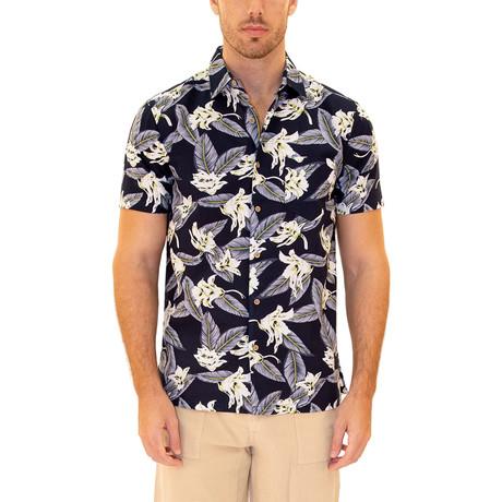 Oahu Hawaiian Shirt // Navy (S)