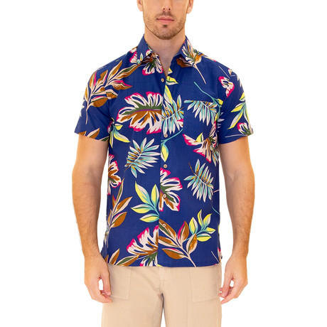 Maui Hawaiian Shirt // Blue (S)