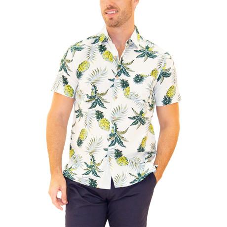 Tiki Hawaiian Shirt // White (S)