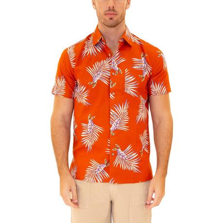 Luau Hawaiian Shirt // Orange (S)