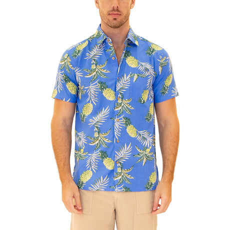 Kauai Hawaiian Shirt // Blue (S)