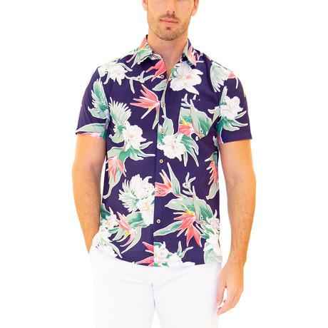 Aloha Hawaiian Shirt // Navy (S)