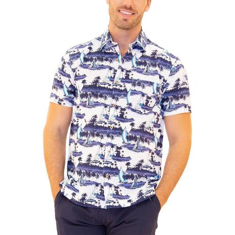 Hula Hawaiian Shirt // White (S)