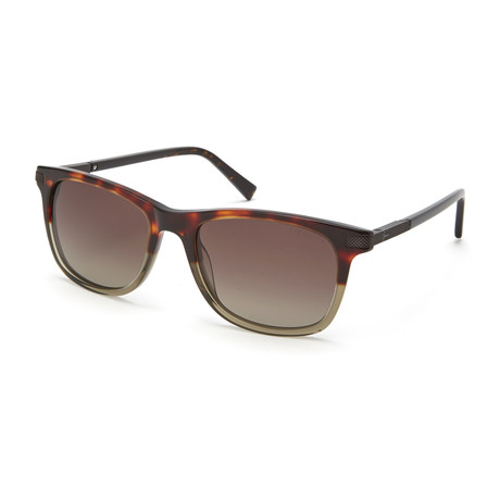 Men's Retro Sqaure Polarized Sunglasses // Tortoise