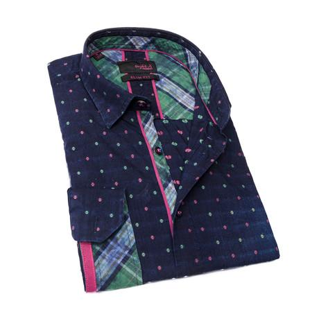 Guillaume Button-Up Shirt // Navy (S)