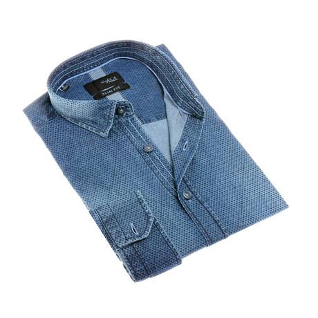 Gilbert Button-Up Shirt // Navy (S)