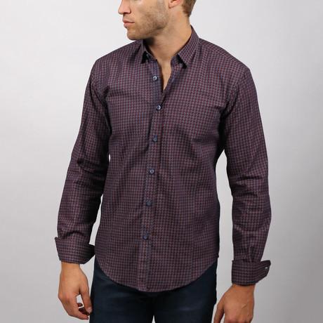 Arkea Button-Up Shirt // Bordeaux (S)