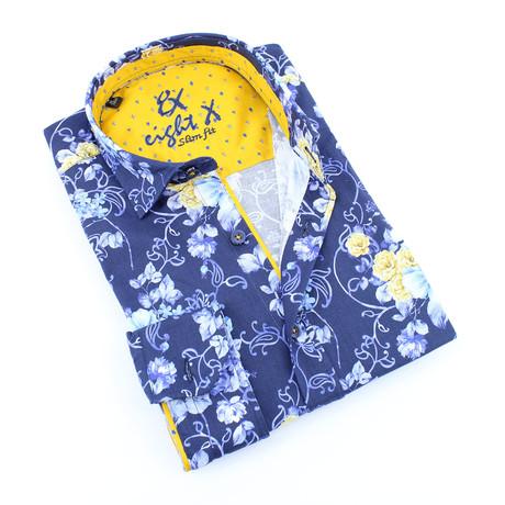 Blyth Button-Up Shirt // Navy (S)