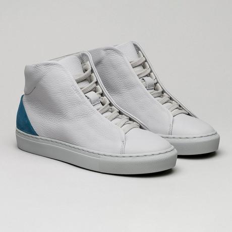Minimal High Midnight Sky Sneakers // Gray + Petrol Blue (Euro: 40)