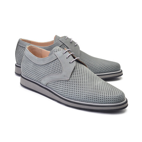 Perforated Casual Lace Up // Gray Nubak (US: 7)