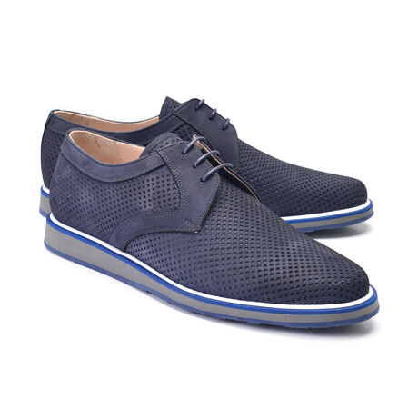 Perforated Casual Lace Up // Navy Nubak (US: 7)