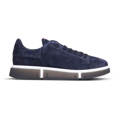 Olaf Navy Sneaker // Blue Suede + White + Smoke (Euro: 39)