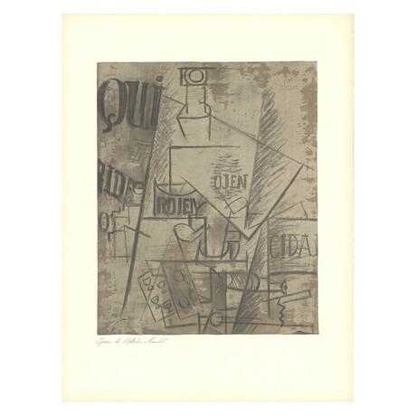Pablo Picasso // Papiers Colles // 1966 Lithograph // V2