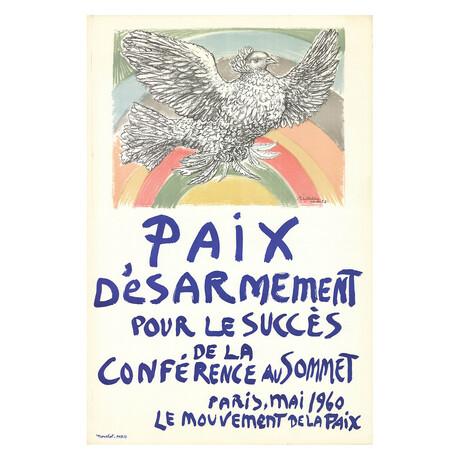 Pablo Picasso // Paix Disarmement-Peace // 1960 Lithograph