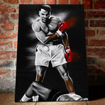 """The Great Ali // Canvas (16""""H x 24""""W x 1.5""""D)"""