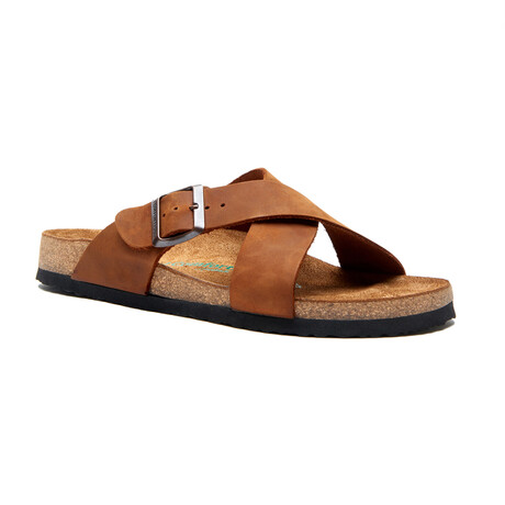 Cross Sandal // Brown (Euro: 35)