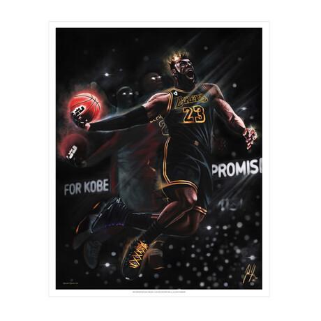 King James // King Me // Art Print