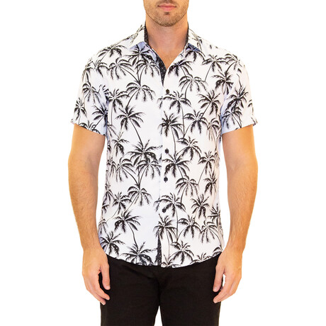Palm Short Sleeve Button Up Shirt // White (XS)