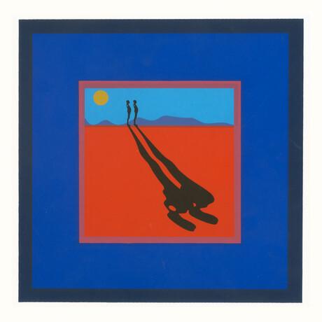 Ernest Trova // Falling Man // 1972 Serigraph