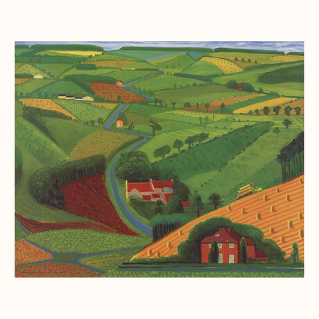 David Hockney // // The Road Across the Wolds // 1997 Offset Lithograph