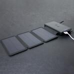 Solar Battery Charger // 25000 mAh Power Bank // Black