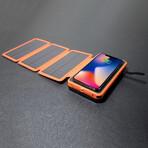 Solar Battery Charger // 25000 mAh Power Bank // Orange