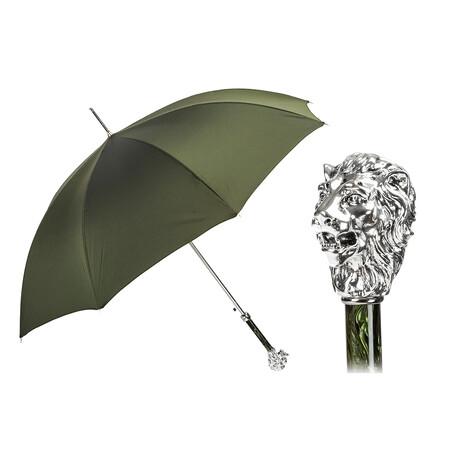 Silver Lion Umbrella // Olive Green