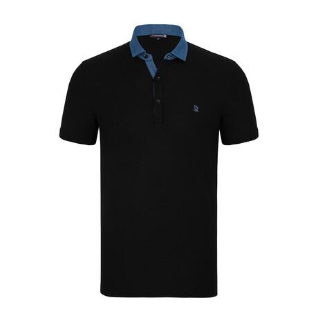 Robert Short Sleeve Polo Shirt // Black (XS)